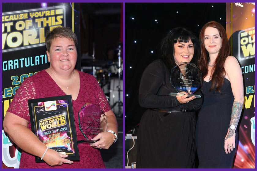 Sanctuary Supported Living award winners Tracy Godfrey, Emma Warren and Sam Williams