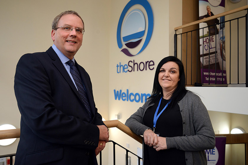 Local service manager Rebekah McClelland at the opening of The Shore last year.