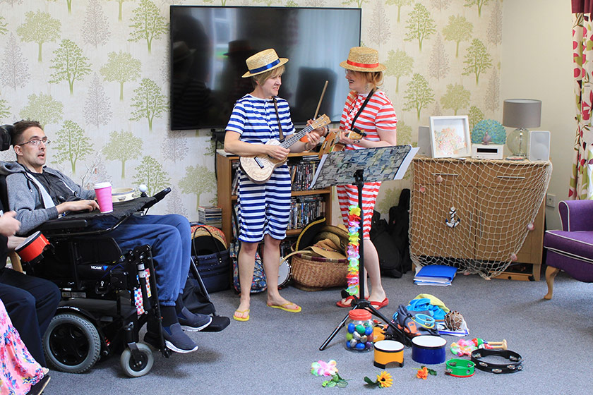 Sanctuary Supported Living residents celebrate an Outstanding CQC rating