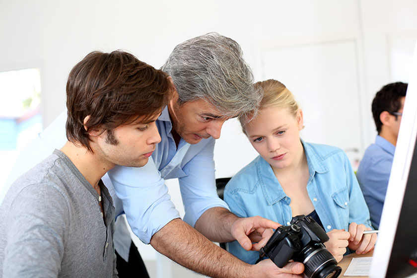 Young people getting involved with photography classes