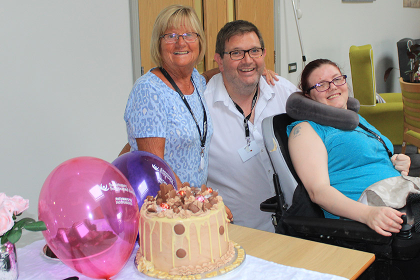 Staff and residents at Clover Court celebrate the scheme's 50th birthday.