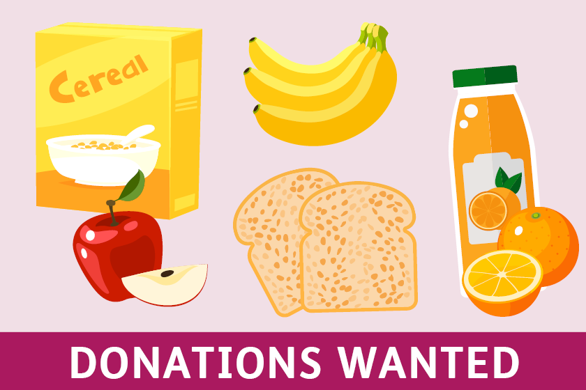 Breakfast donations wanted