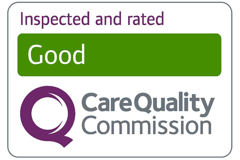 Inspected and rated as Good by the CQC