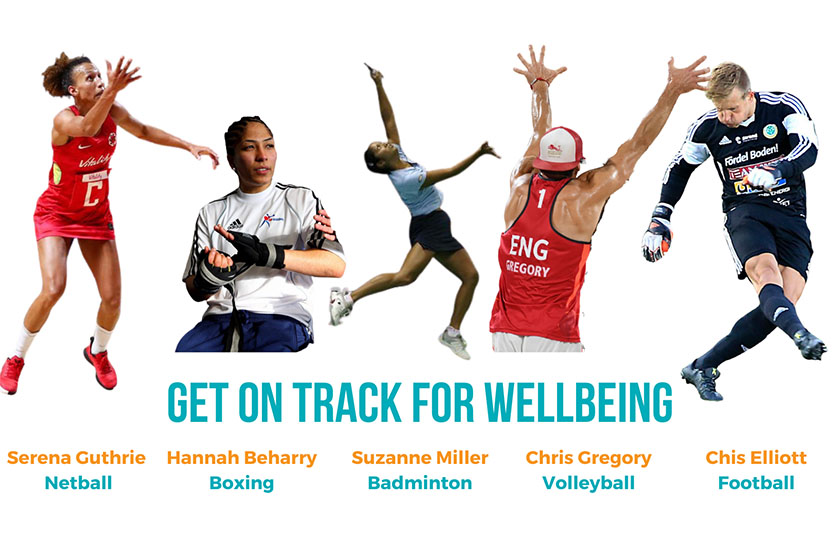 Dame Kelly Holmes - Get on Track For Wellbeing Programme graphic