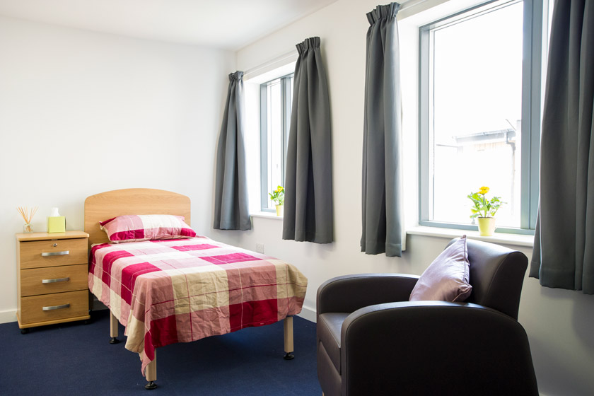 An example of a bedroom in one of our supported housing services.