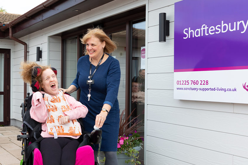 Shaftesbury Court resident Becca Steel and scheme Manager Samantha McCrindle