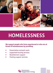 Sanctuary Supported Living - Homelessness brochure