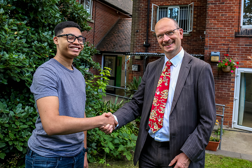 Sandy Martin MP with resident Marvin Matherson