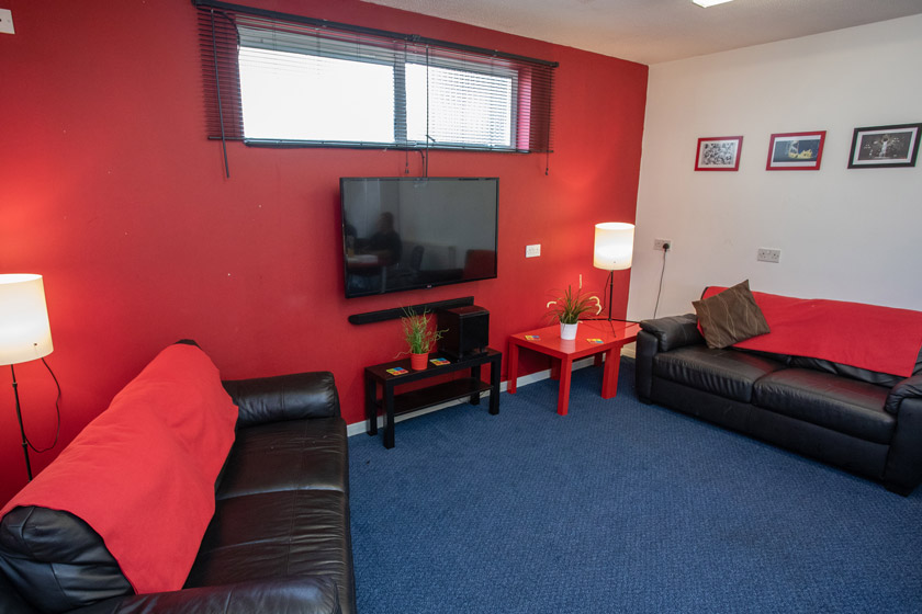Example of a shared lounge at Chelmsford Homelessness Supported Housing