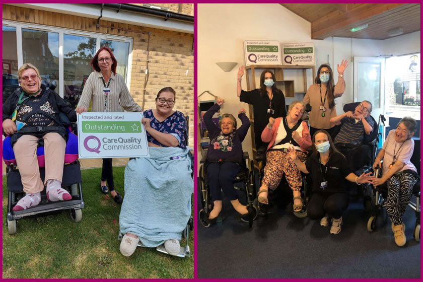 Staff and residents at Sanctuary Supported Living celebrate award nominatiions