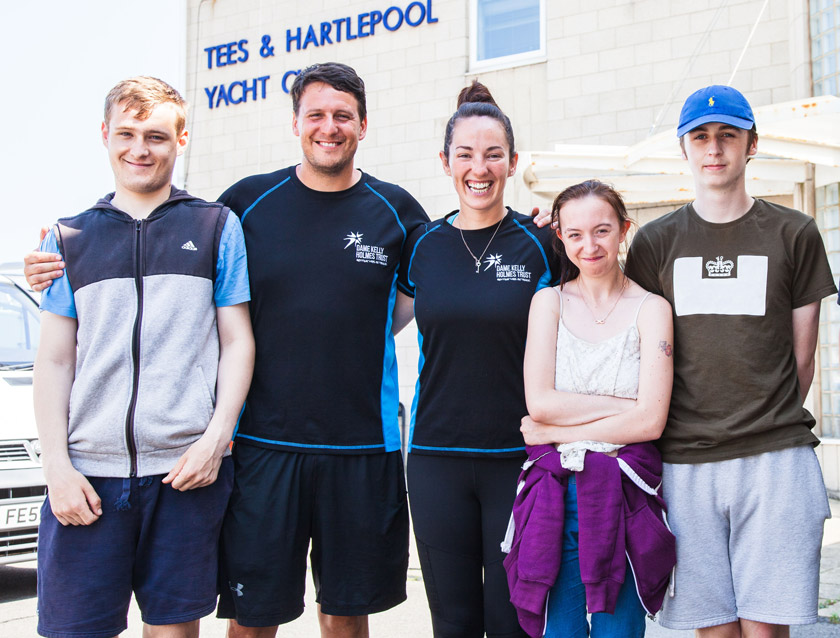 """Young residents taking part in the Dame Kelly Holmes Trust's """"Get on Track to Wellbeing"""" project."""