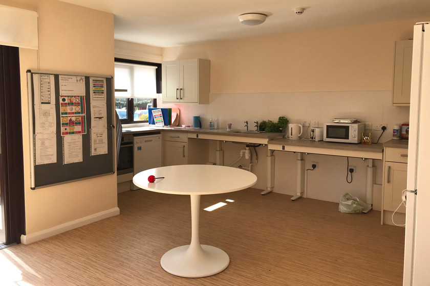 Kitchen area at Sussex Avenue