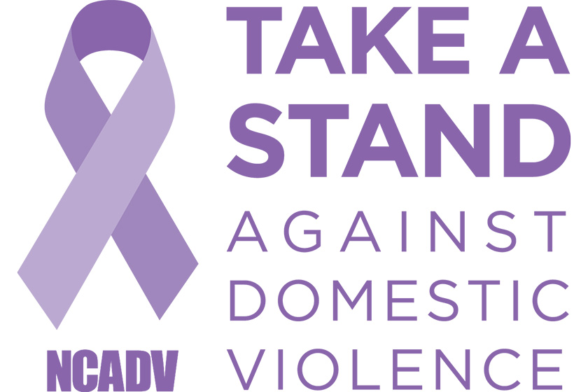 Take a stand against domestic violence logo
