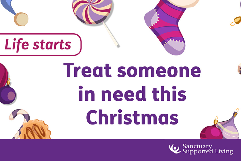 Treat someone this Christmas poster