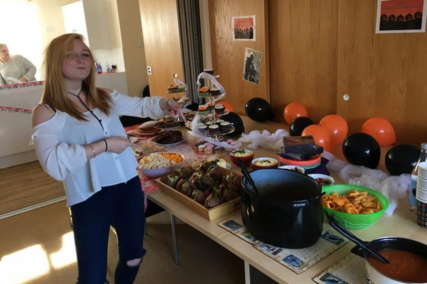A picture of Homelessness service sees in Halloween with spooktacular party
