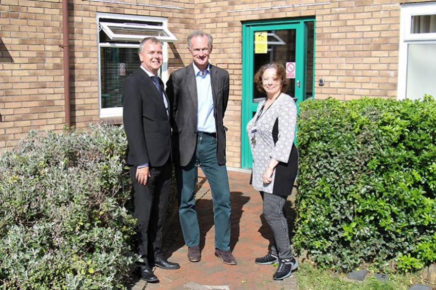 A picture of Weston MP visits supported housing service