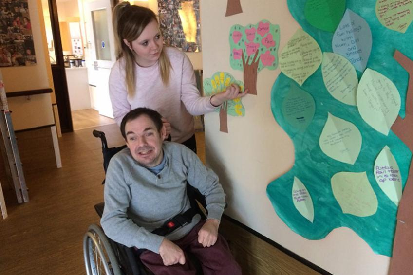 A picture of Care home activity 'leaves' a good impression