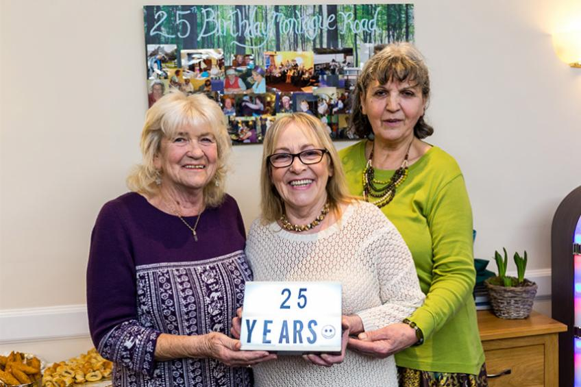 A picture of Felixstowe nursing home marks 25 years of care