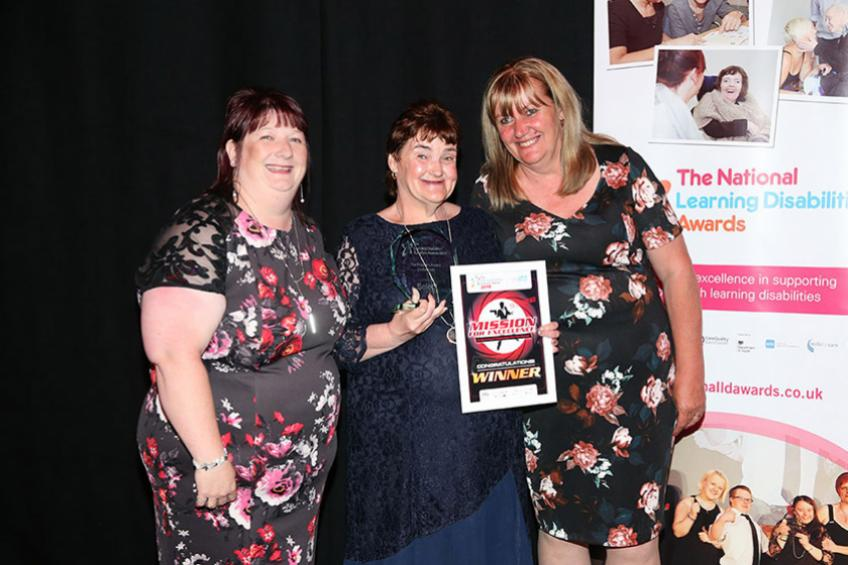 A picture of Mansfield resident wins top Learning Disability award