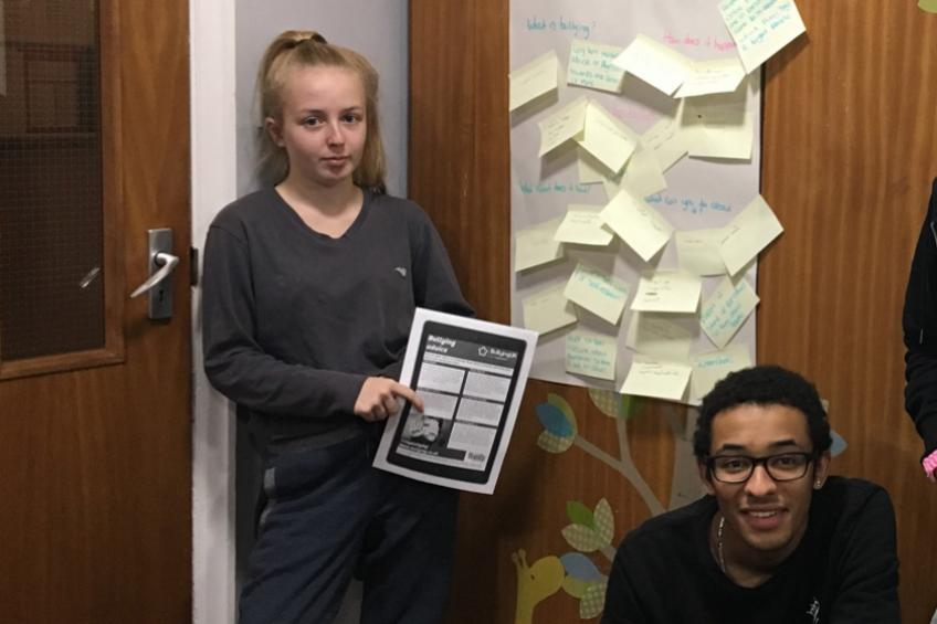 A picture of Young Grays residents tackle bullying through new project