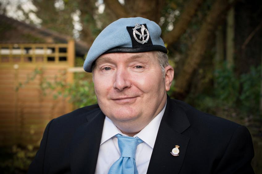 A picture of Ex-paratrooper learns new language following life-changing stroke