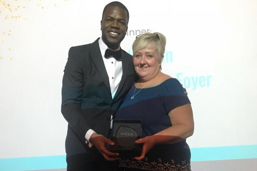 A picture of National youth work award for Brighton's Jan