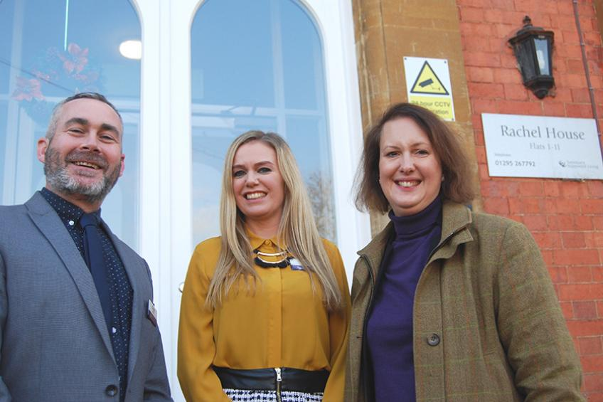 A picture of MP pays visit to see value of supported housing