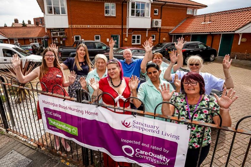 A picture of Felixstowe service enjoys success at Suffolk Care Awards