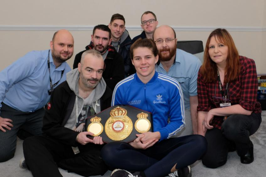 A picture of A knock-out visit from Olympian for Darlington residents