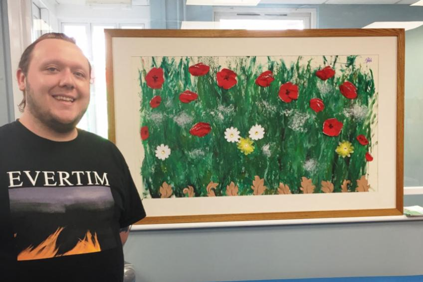 A picture of Positive reception for isolated resident's artwork