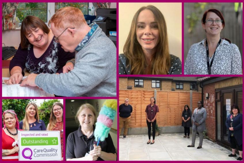 A picture of Sanctuary Supported Living services reach Care Awards regional finals