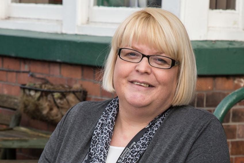 A picture of Jo marks 25 years at Corner House