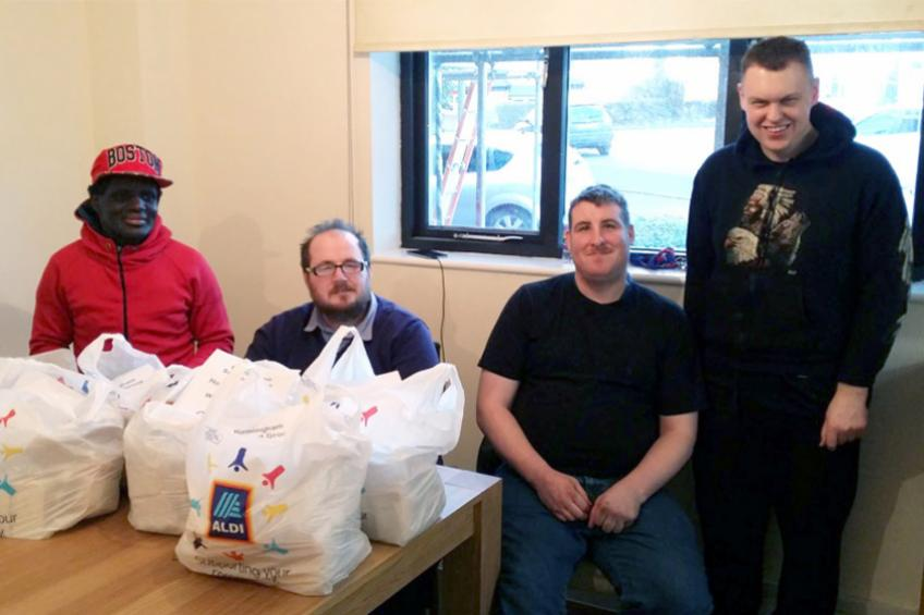 A picture of Supported housing residents' tasty efforts for homeless people