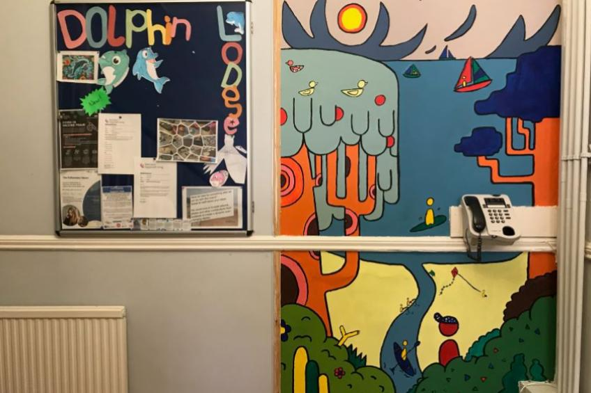 A picture of Local landscape inspires mental health mural