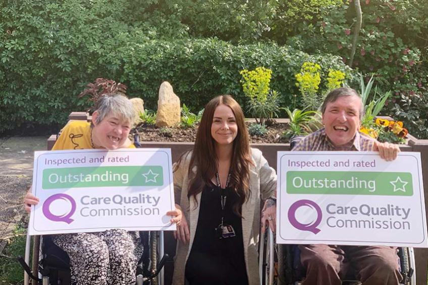 A picture of 'Outstanding' care at Suffolk supported housing service