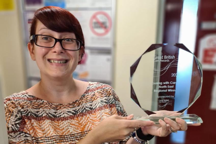 A picture of Norton Road team enjoys care awards success
