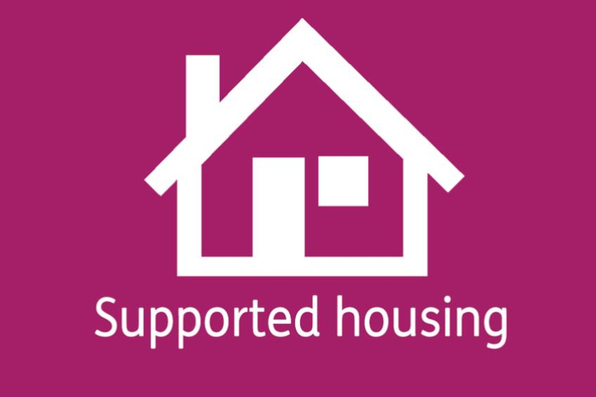 Supported Housing with a house icon