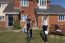 A picture of Colchester residents get in the saddle for World Suicide Prevention Month