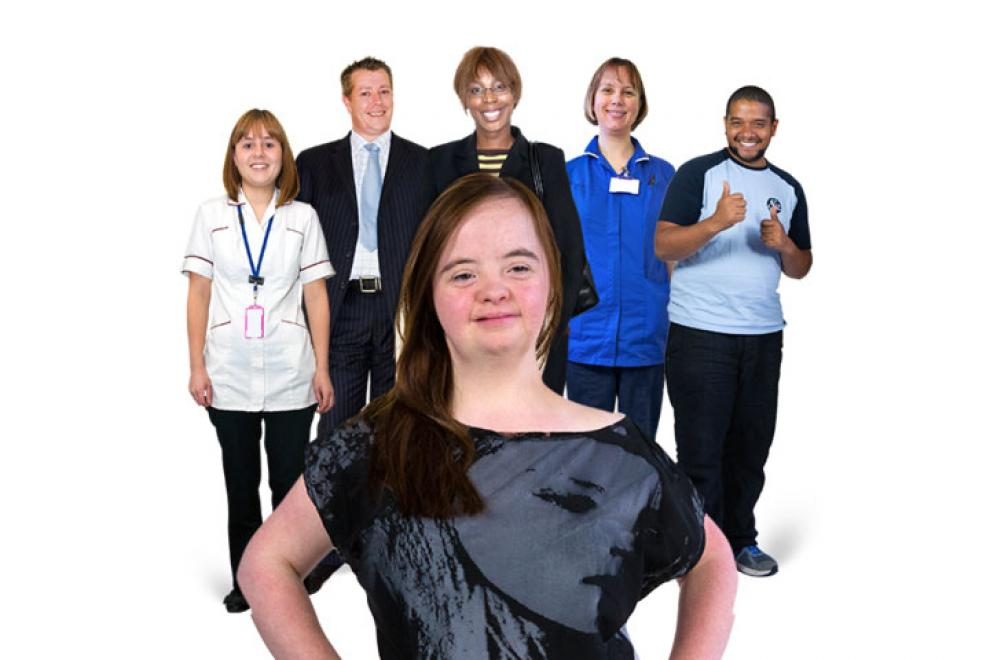 Staff team support surrounding a resident